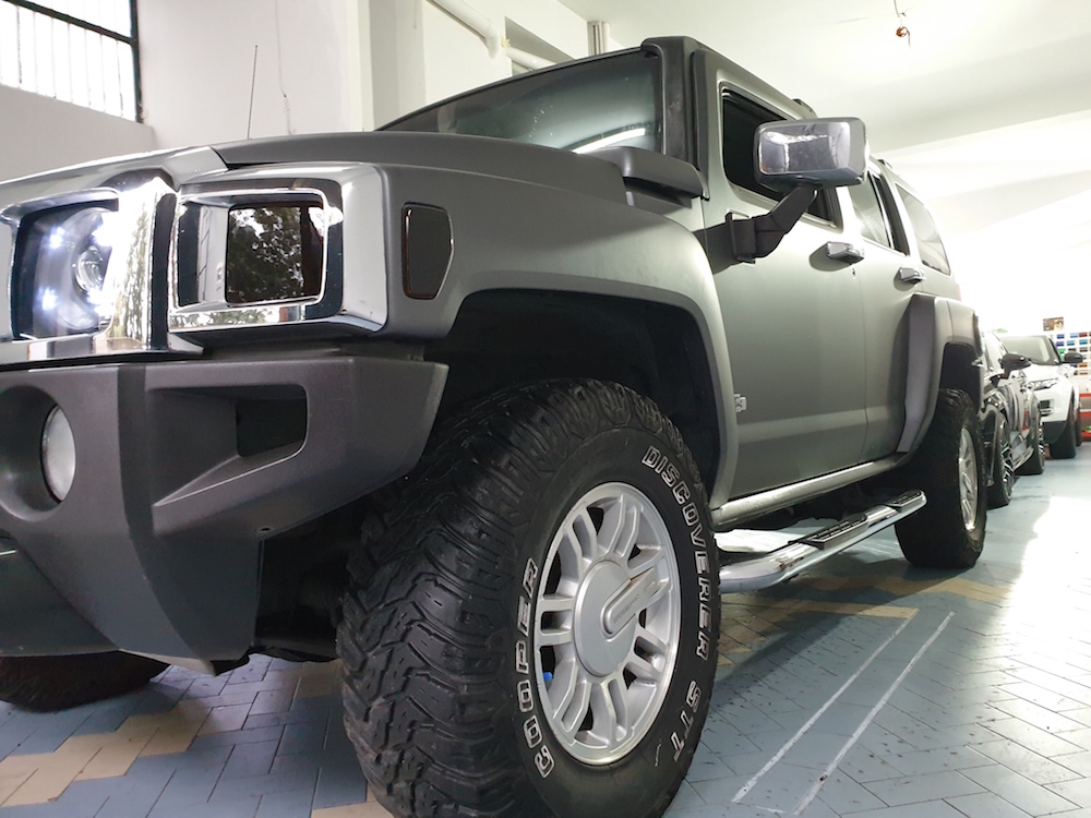 Wrapping Hummer H3 Grigio Antracite