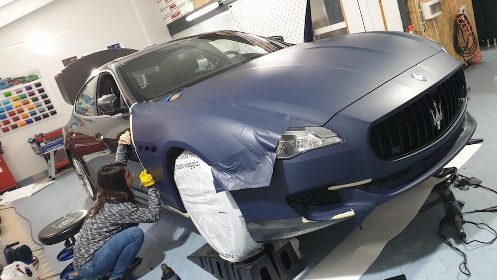 Wrapping Maserati GTS Blu Opaco