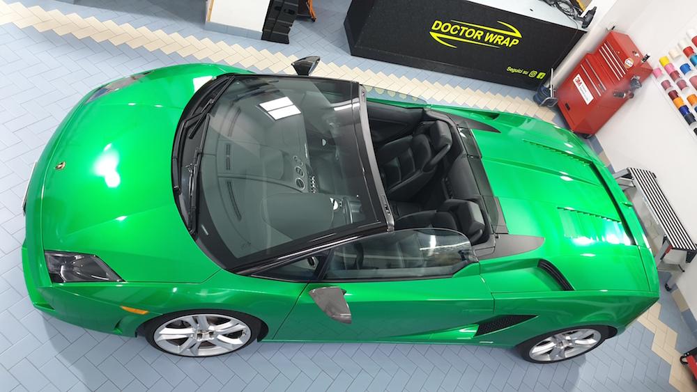 Wrapping Lamborghini Gallardo Verde Metallizzato