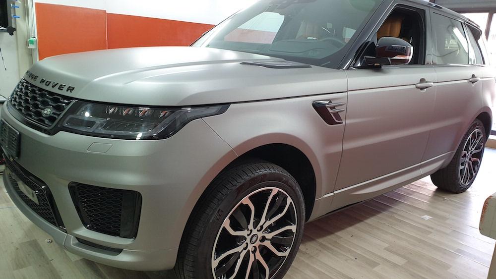 Wrapping Range Rover Sport Grigio Antracite Chiaro